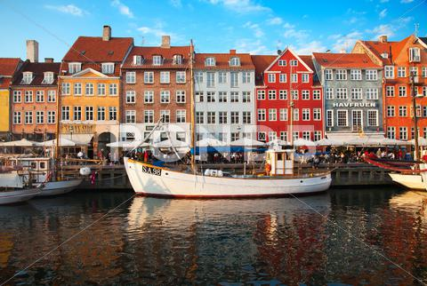 Stock photo of copenhagen (nyhavn district) in a sunny summer day