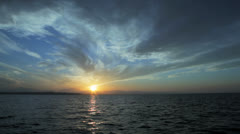 beautiful sunset at the sea with clouds - stock footage
