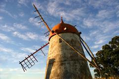 Azores ancient windmill Stock Photos