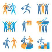 Business success icons Stock Illustration