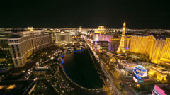 Las Vegas strip evening night sunset timelapse Stock Footage