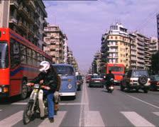 GREECE traffic in Thessaloniki archival Stock Footage