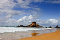 portuguese algarve beach, the south of the country - stock photo
