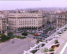 GREECE Thessaloniki Aristotelous square overhead view Stock Footage