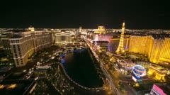 Las Vegas strip evening night sunset timelapse Stock Footage
