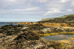 Coastal rock view, azores island Stock Photos