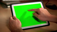 Stock Video Footage of Tablet PC Chroma Key