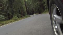 Driving metsäteiden kamera pyörältä nopea liike HD 0102 Arkistovideo