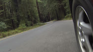 Driving forest road camera by wheel fast motion HD 0102 Stock Footage