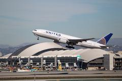 United airlines boeing 777-222(er) - n791ua Stock Photos