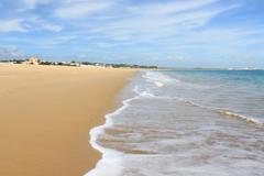 Meia praia, lagos, algarve, portugal Stock Photos