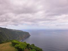 Land and ocean of azores Stock Photos