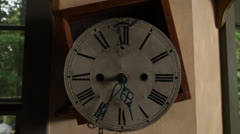 Old wall clock with exposed gears. HD 1080p 24fps. Stock Footage
