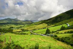 Azores green landscape Stock Photos
