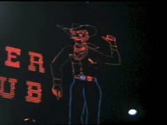 Pioneer Club Neon Cowboy - Las Vegas 1961 Stock Footage