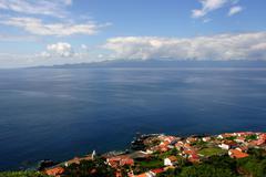 Village in azores coast Stock Photos
