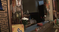 Buddhist, Temple, Interior Stock Footage