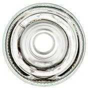 Bottom of a glass transparent wine bottle on a white background - stock photo