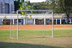 goal on soccer field - stock photo