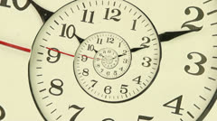 Droste effect clock Stock Footage