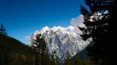 Time lapse: Clouds over mountain 4 Stock Footage