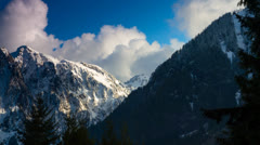 Time lapse: Clouds over mountain 5 Stock Footage