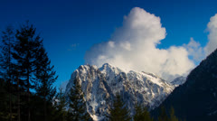 Time lapse: Clouds over mountain 6 Stock Footage