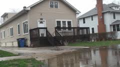 Neighborhood under water 4 Stock Footage