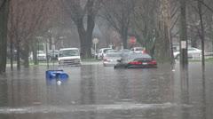 Neighborhood under water 2 Stock Footage