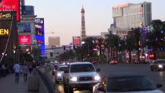 Vegas Strip Lapse - Aria, Planet Hollywood, Trump Stock Footage