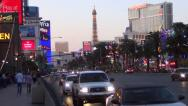 Stock Video Footage of Vegas Strip Lapse - Aria, Planet Hollywood, Trump
