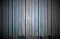 Corrugated metal sheet Stock Photos