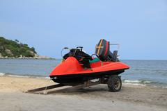 Jetski on beach Stock Photos