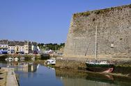 Stock Photo of Port and citadel of Le Palais at Belle Ile in France
