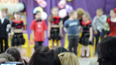 Perfomance on the kindergarten`s stage Stock Footage