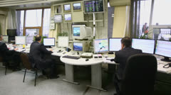 Dispatchers work in Sheremetyevo airport Stock Footage