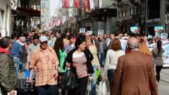 KESK Protest in Taksim Square, Istanbul Turkey Stock Footage