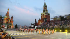 Armed Forces of Jordan military parade in Red Square - stock footage