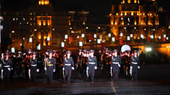 Orchestra of Moscow Suvorov Military Music College march Stock Footage