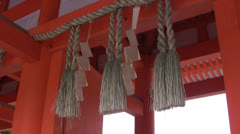 Chinese decoration roof Stock Footage