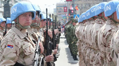 United Nation Platoon - stock footage
