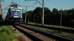 Long distance trains Stock Footage