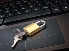 locked access - stock photo