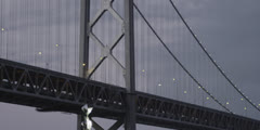 San Francisco Bay Bridge at Dusk in 5k Red Epic 2 - stock footage
