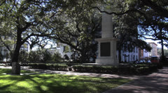 Monument in Johnson Square, Savannah Georgia Stock Footage