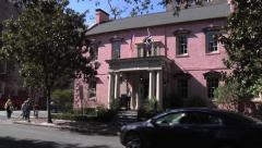 The Olde Pink House Restaurant - Savannah Georgia Stock Footage