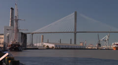 Talmadge Memorial Bridge- Savannah Georgia - stock footage