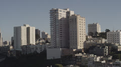 San Francisco Buildings Skyline City Buildings at Golden Hour in 5K Red Epic - stock footage