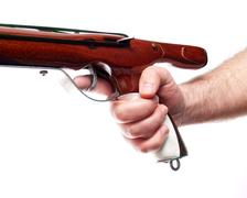 Speargun trigger Stock Photos