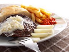 caloric meal - stock photo